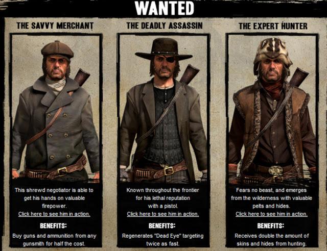 Resultado de imagem para red dead redemption multiplayer characters